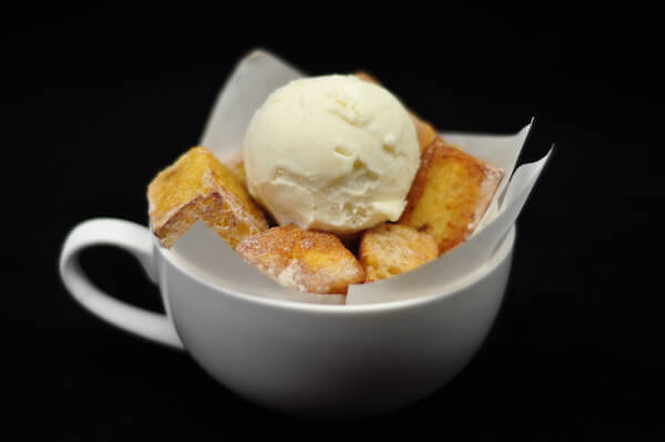 Homemade Brioche French Toast with Vanilla Ice Cream by Just Heavenly Cafe