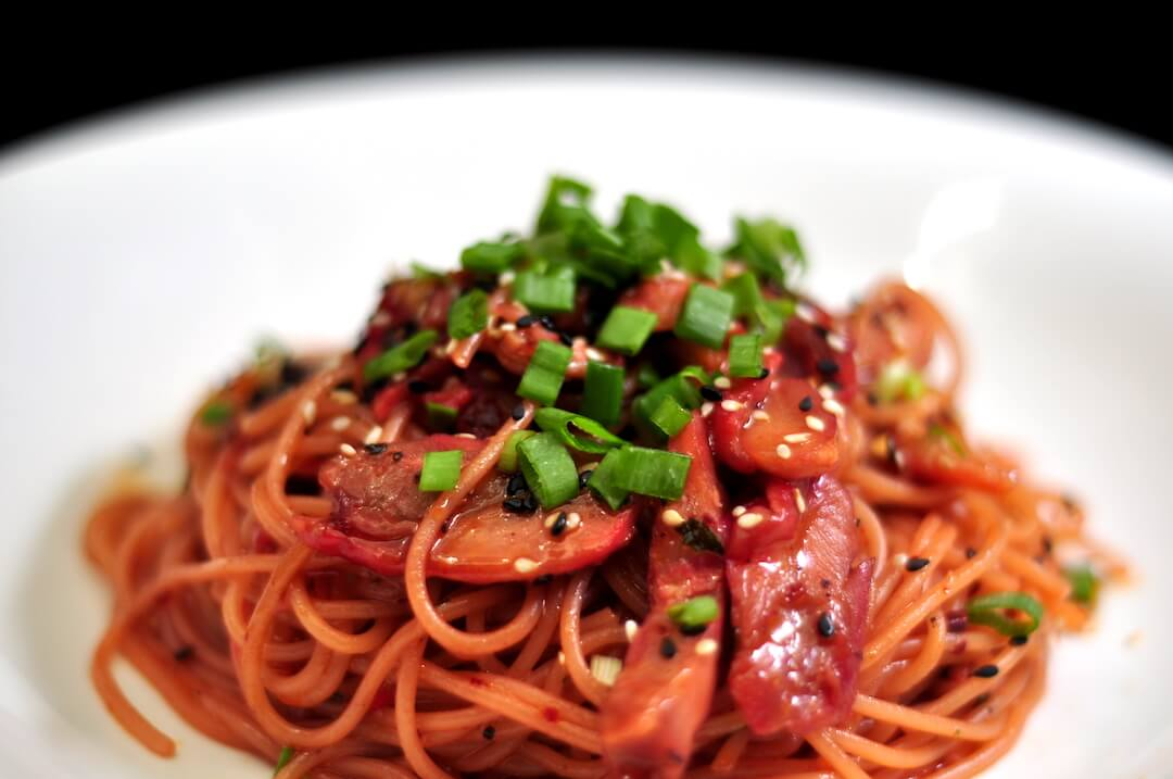 Charsiew Chicken Pasta by Just Heavenly Cafe
